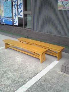 長椅子キシラデコール塗り